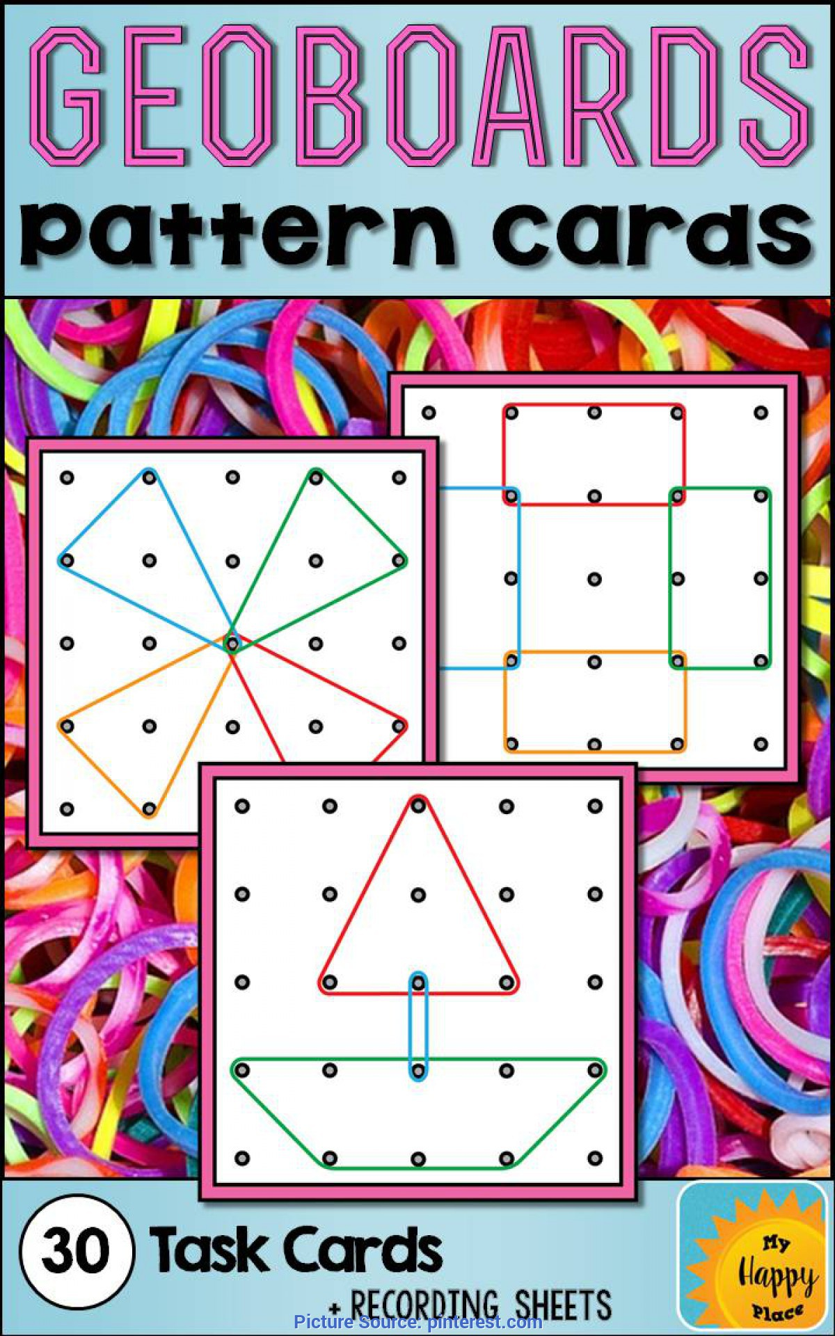 Top Pre K Geometry Lesson Plans Geoboards Task Cards