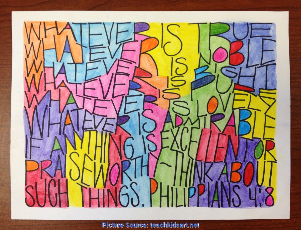 Typical Fun Art Projects For Middle School Calligraphy