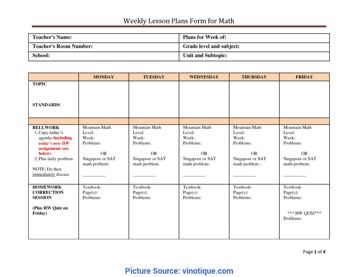 Simple High Scope Preschool Lesson Plan Template Sample