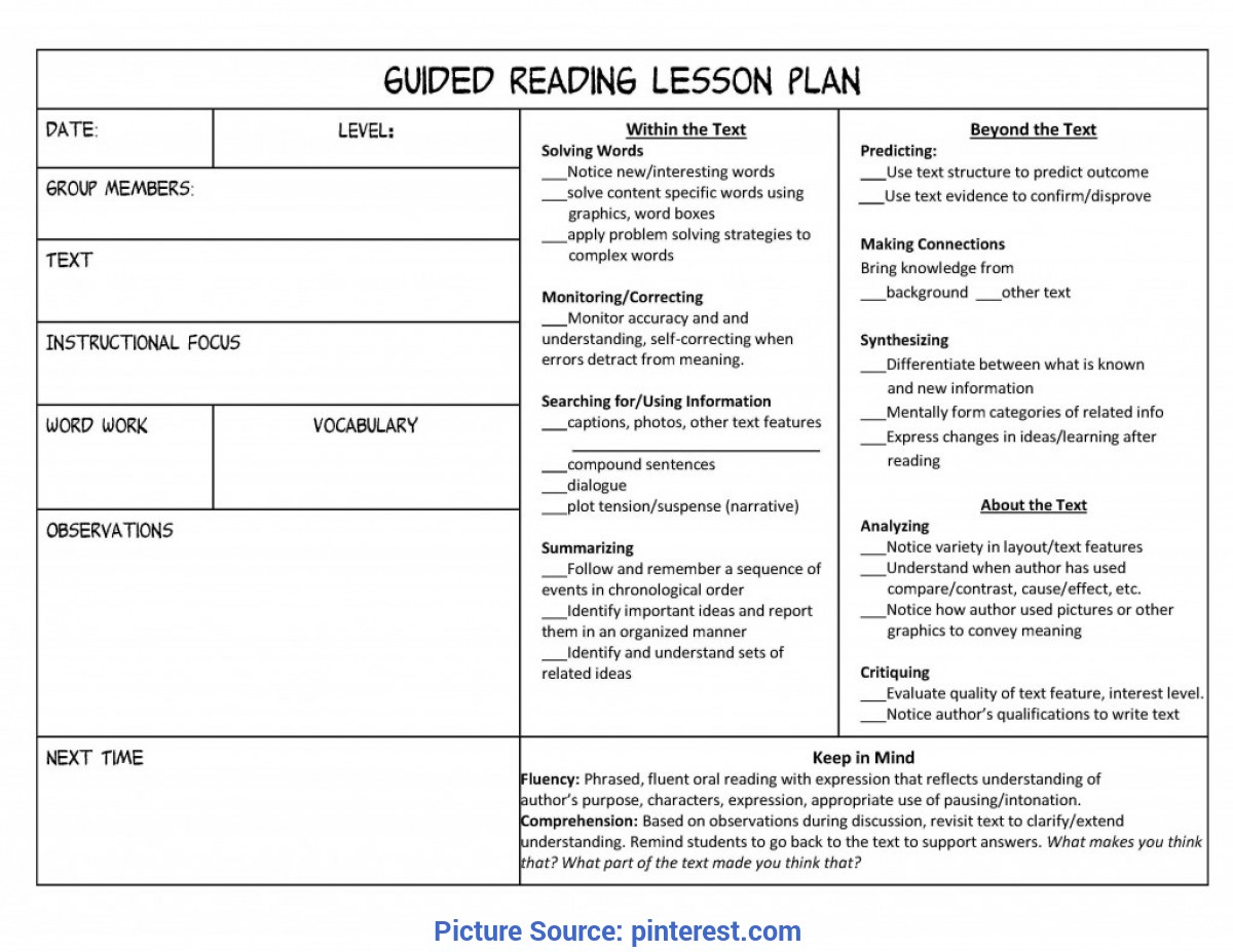 Useful Reading Lesson Plan 6th Grade Daily Lesson Plan