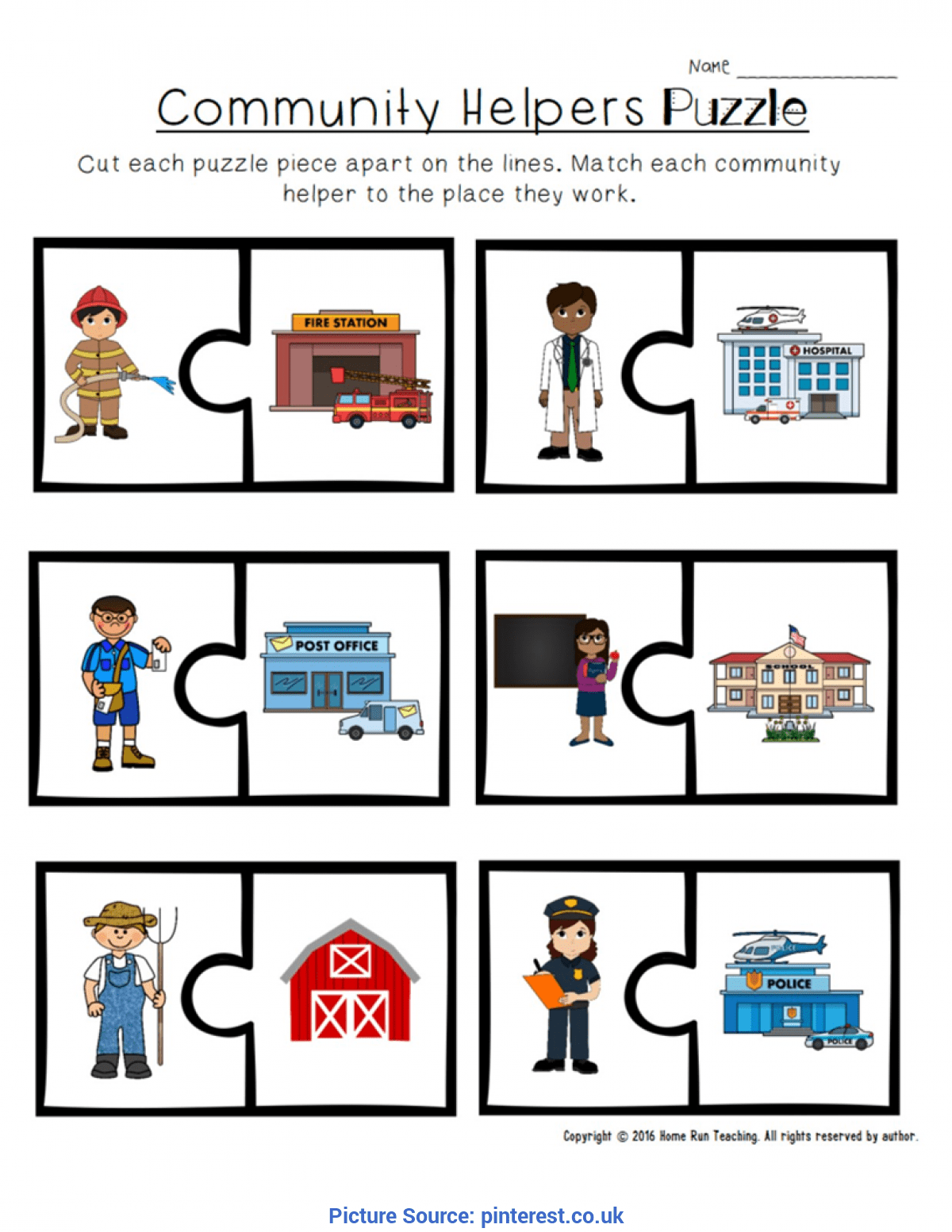 Mailman Worksheet For Kindergarten