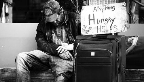 ホームレス男性
