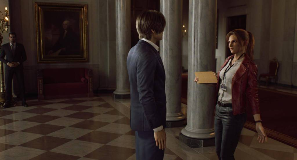 Protagonistas do anime Resident Evil na netflix.