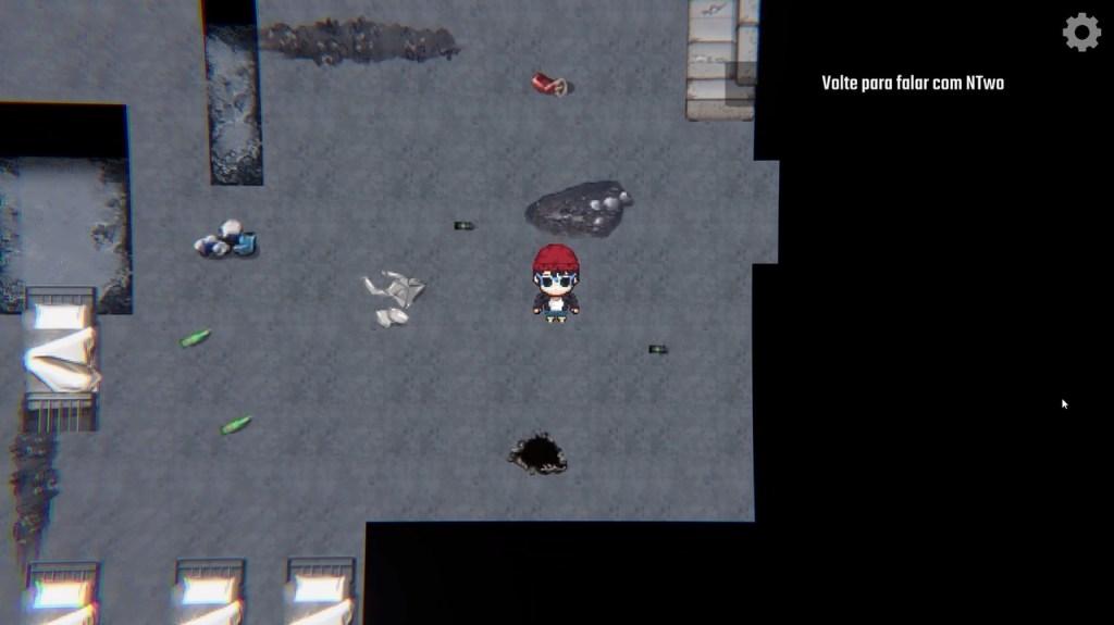 perspectiva top-down in-game, Tutz em uma casa abandonada - OtaGeek