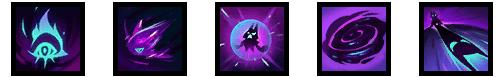 Icones das habilidades da Vex