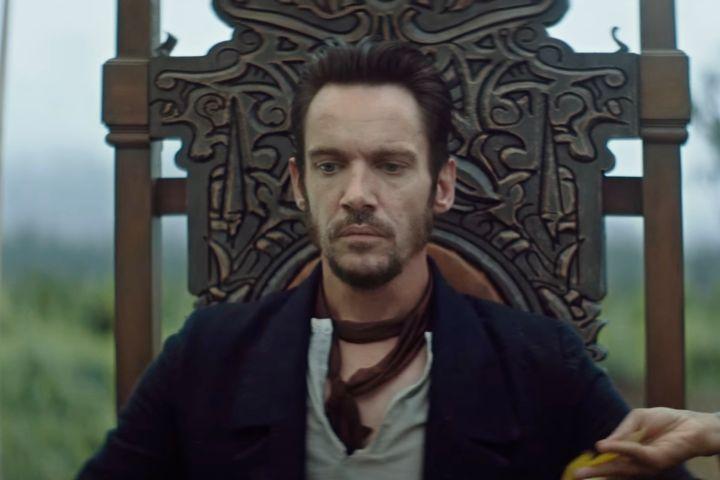 James Brooke sentado em seu trono logo após ser delcarado rei de Salawak.
