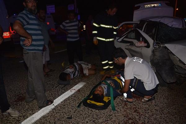 kozan sanayi kaza yaralı