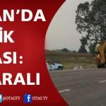 KOZAN- GAZİKÖY'DE TRAFİK KAZASI; 10 YARALI