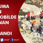 KOZAN'DA UÇURUMA DÜŞEN ARAÇTA BULUNAN 4 KİŞİ YARALANDI