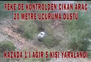 FEKE'DE TRAFİK KAZASI 5 YARALI