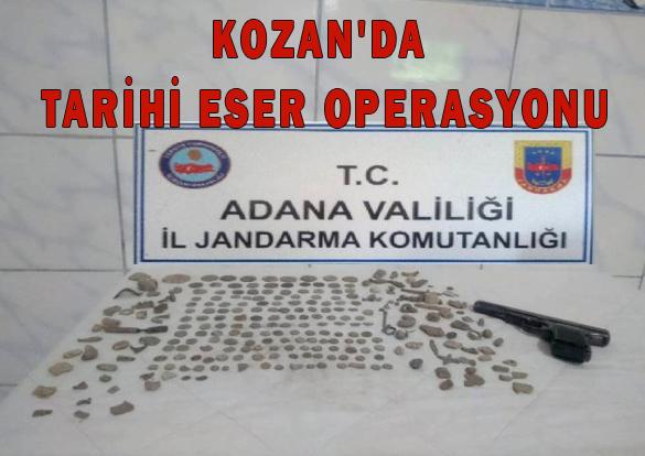 KOZAN'DA TARİHİ ESER OPERASYONU