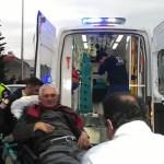 KOZAN'DA ELEKTRİKLİ SANDALYEDEN DÜŞEN ENGELLİ VATANDAŞ YARALANDI