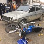 KOZAN'DA İKİ AYRI MOTOSİKLET KAZASI 1 YARALI