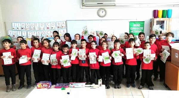 Ağaç Kardeşliği Projesi Kozan'da iki okulda başlandı
