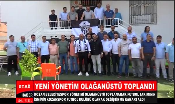 """KOZAN BELEDİYESPOR KULÜBÜN ADI """"KOZANSPOR"""" OLARAK DEĞİŞTİ"""