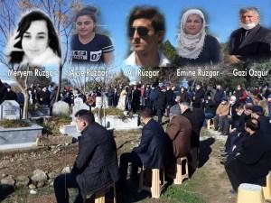 FECİ KAZADA HAYATINI KAYBEDEN 5 KİŞİ TOPRAĞA VERİLDİ