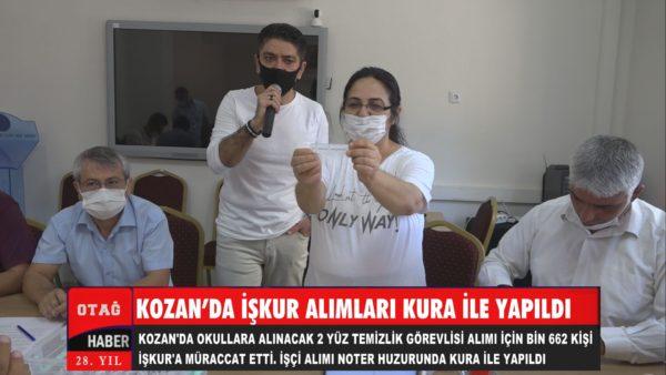 KOZAN'DA İŞKUR ALIMLARI KURA İLE YAPILDI
