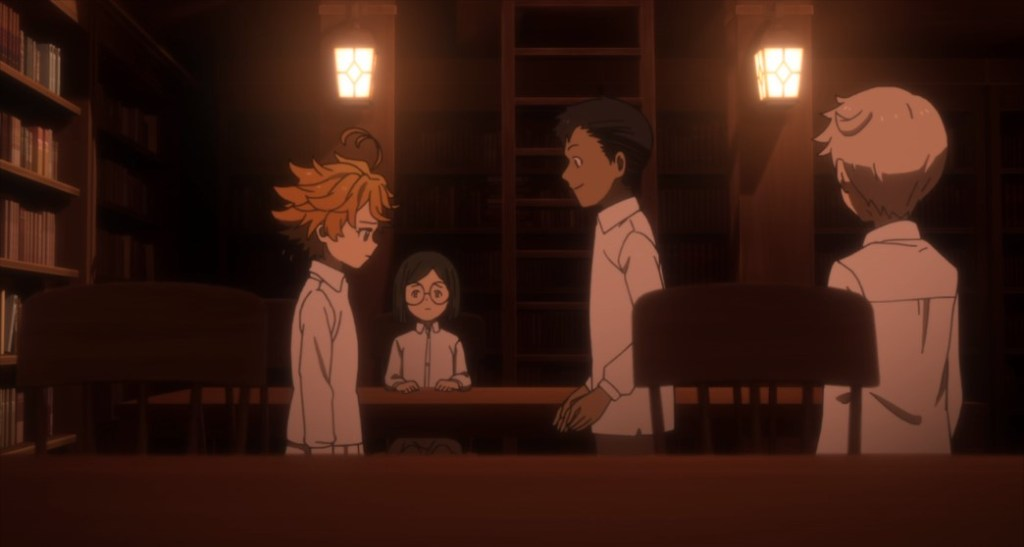 The Promised Neverland Episode 4 Emma Norman Don Gilda