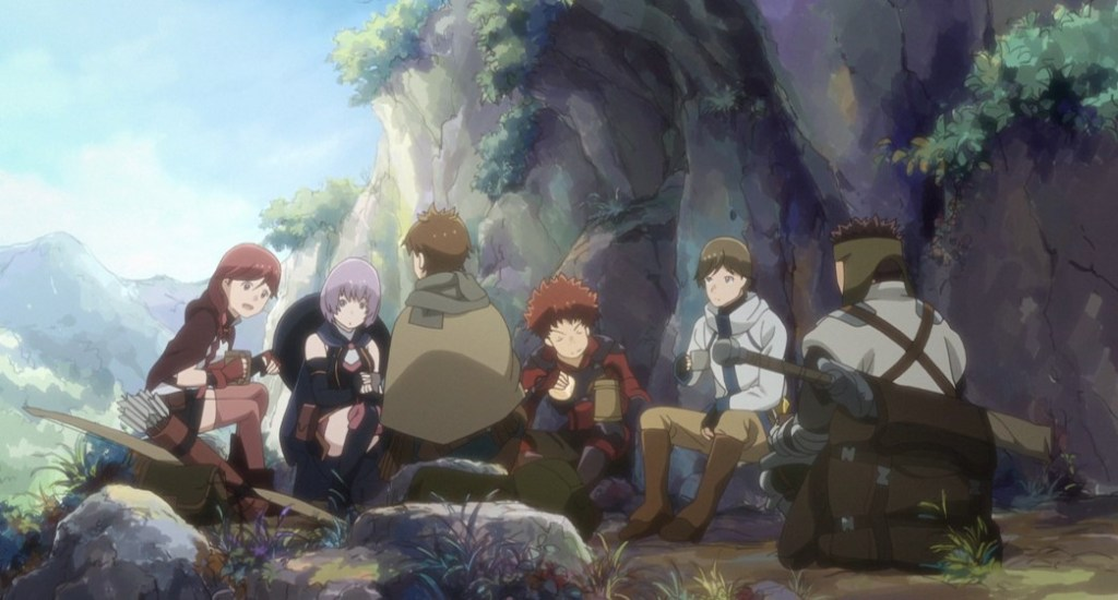 Grimgar Ashes And Illusions The Group having Lunch