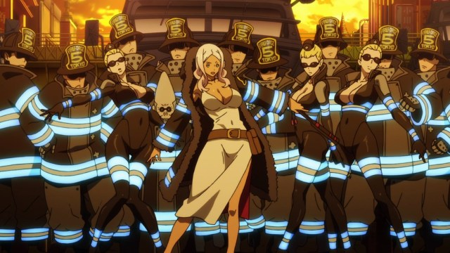 Fire Force Episode 4 Special Company 5 Posing