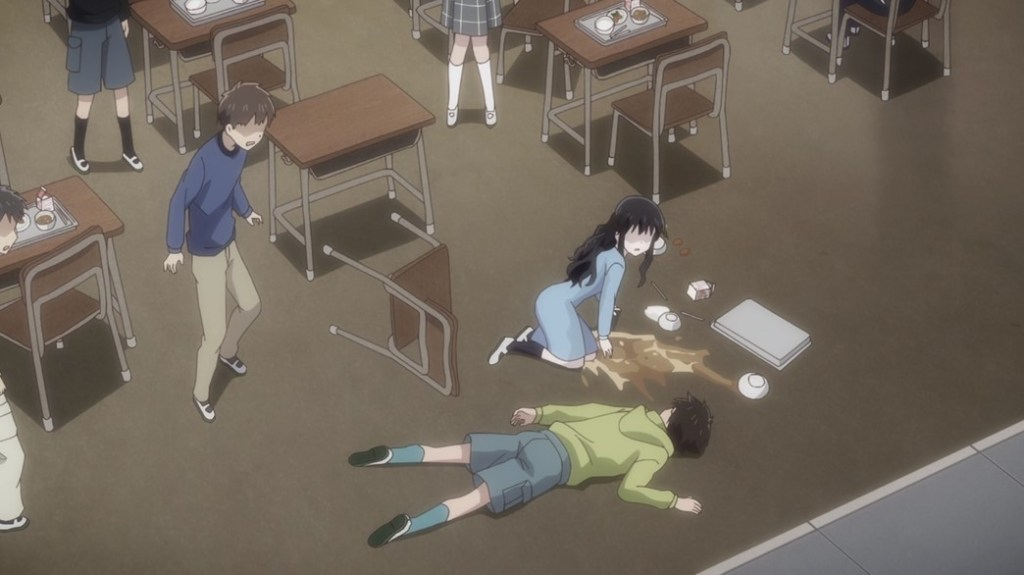 Fruits Basket Episode 22 Child Bullying Saki collapses