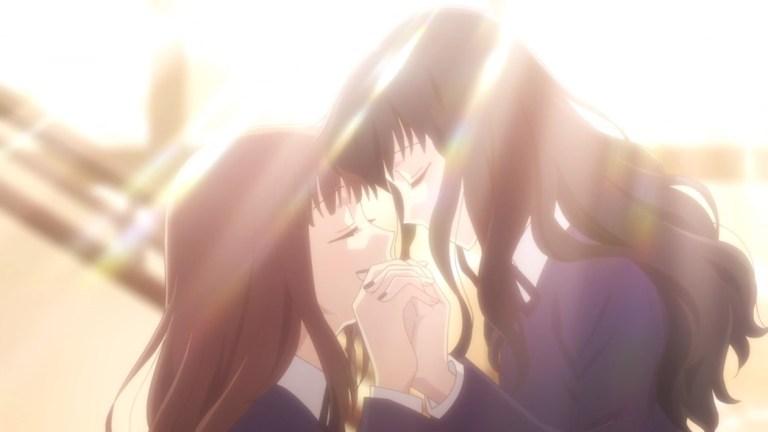 Fruits Basket Episode 22 Saki accepts Tohru and Arisa's friendship