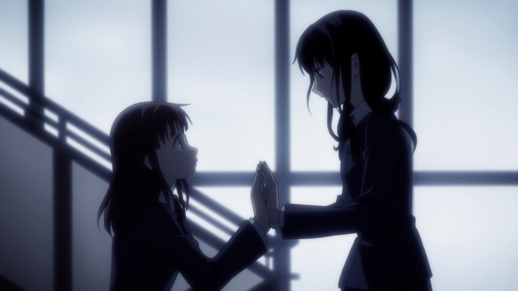 Fruits Basket Episode 22 Tohru doesn't want to let Saki go