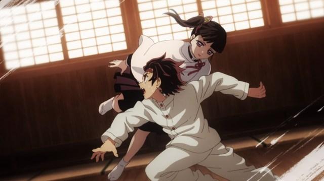 Demon Slayer Kimetsu No Yaiba Episode 24 Tanjiro Training with Kanao