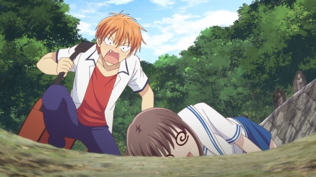 Fruits Basket Episode 23 Tohru passes out