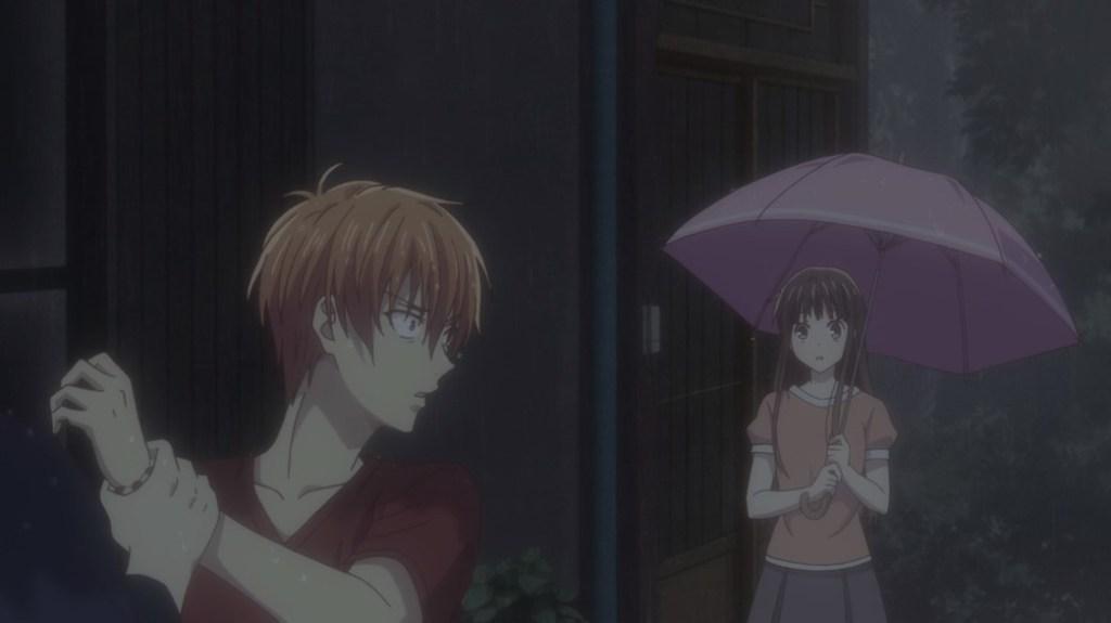 Fruits Basket Episode 24 Shisho removes Kyo's bracelet in front of Tohru