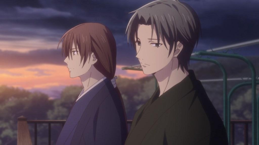 Fruits Basket Episode 24 Shisho tells Shigure he plans on Showing Tohru
