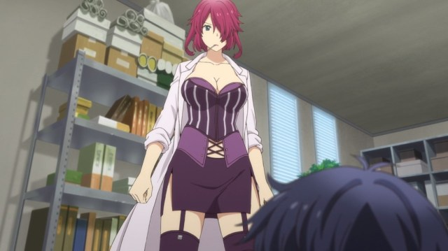 YU-NO A Girl Who Chants Love at the Bound of This World Episode 12 Eriko Takeda Teacher Uniform