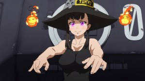 Fire Force Episode 18 Maki with Fire Sprites