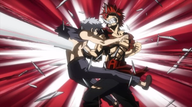 My Hero Academia 4 Episode 68 Red Riot Knocks the Villain Down