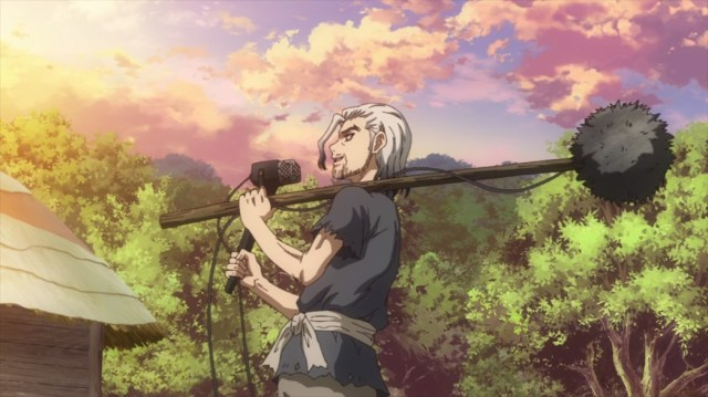 Dr Stone Episode 24 Byakuya Recording in the Past
