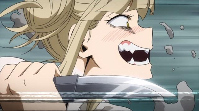 My Hero Academia 4 Episode 73 Toga going after Midoriya