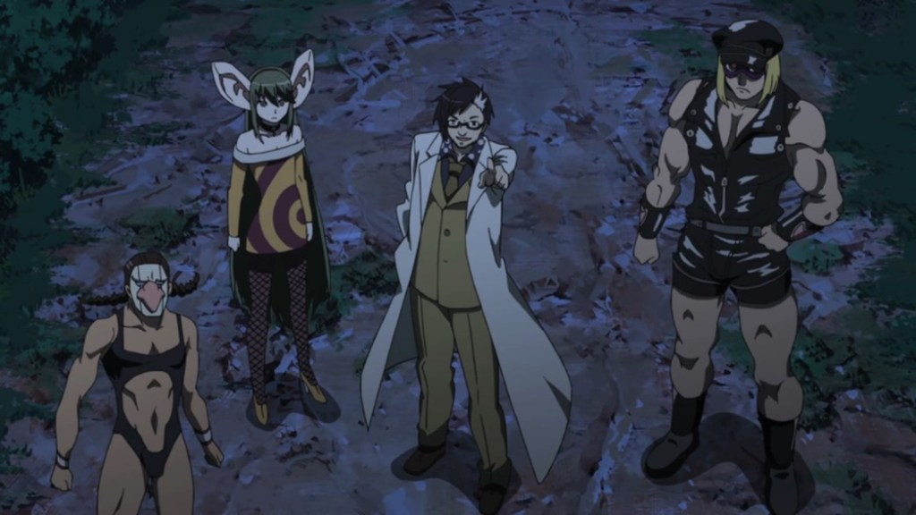 Akame ga Kill Episode 10 Dr Stylish with his Super Soldiers