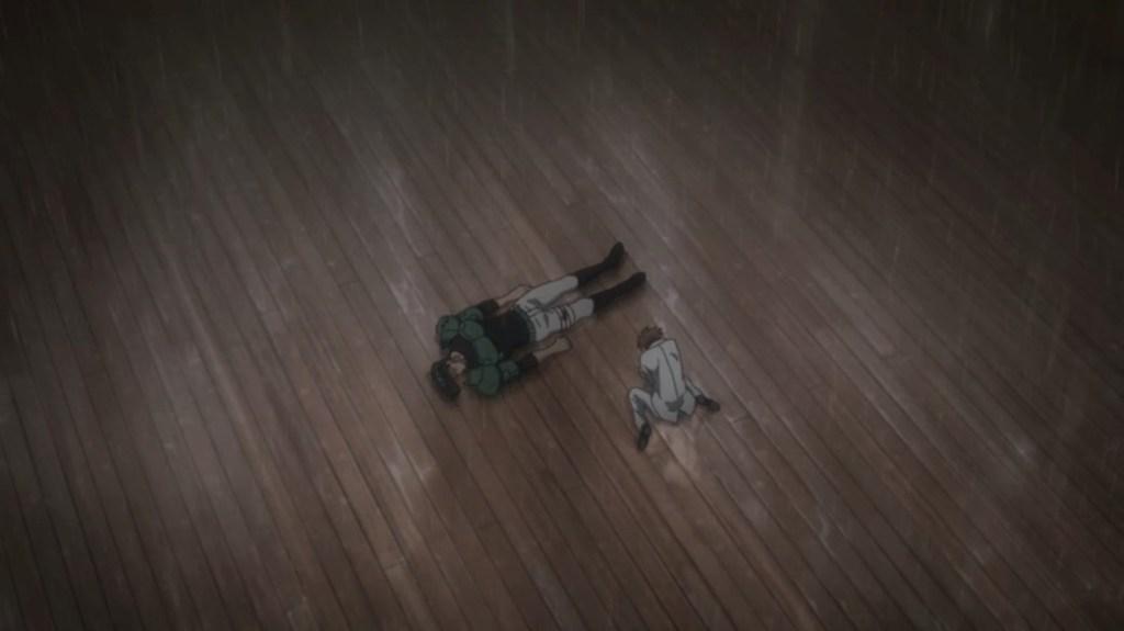 Akame ga Kill Episode 8 Tatsumi Crying beside Bulat