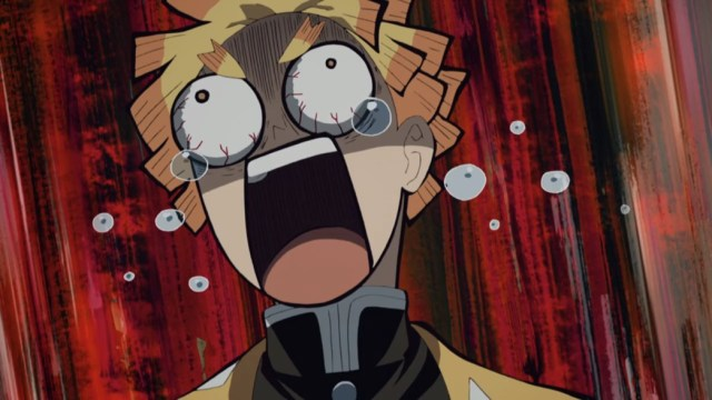 Demon Slayer Kimetsu No Yaiba Episode 17 Zenitsu freaking out