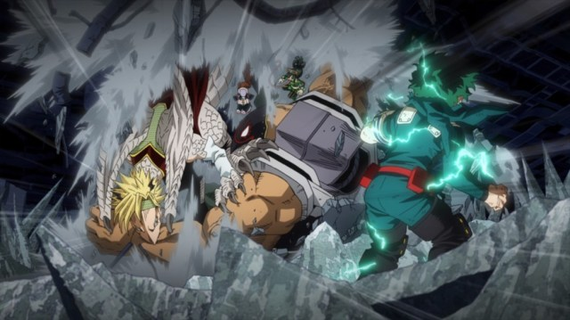 My Hero Academia 4 Episode 75 Heroes and Villains Crash in from Above