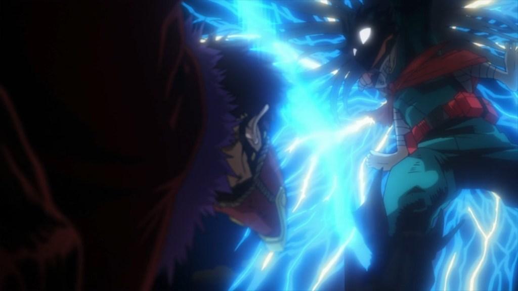 My Hero Academia 4 Episode 76 Midoriya about to hit Overhaul with Everything he has