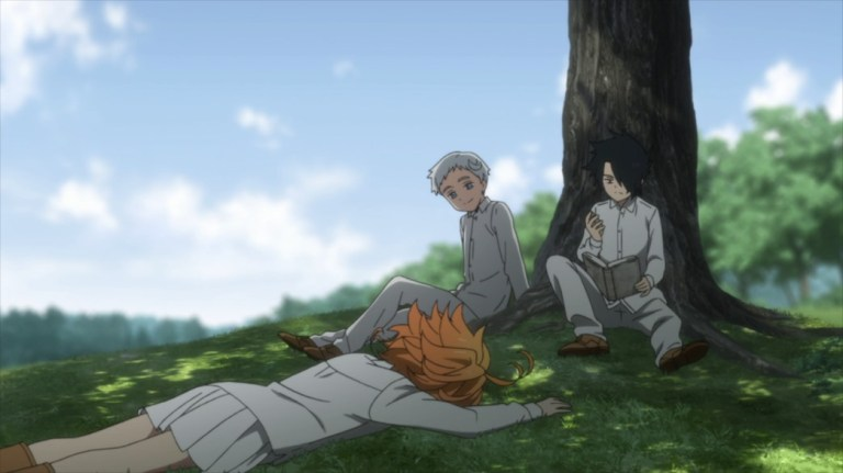 The Promised Neverland Episode 1 Emma Norman and Ray