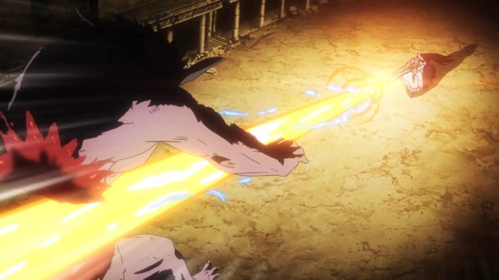 Akame ga Kill Episode 19 Mine hit Coro with an Energy Beam