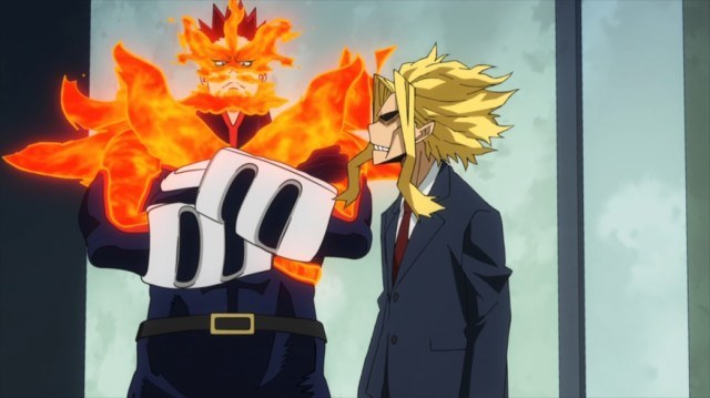 My Hero Academia 4 Episode 79 Endeavor and All Might