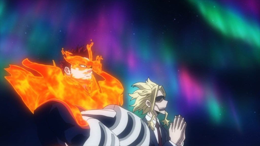 My Hero Academia 4 Episode 80 Endeavor and All Might