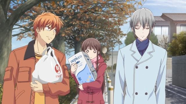 Fruits Basket Episode 9 Tohru Kyo and Yuki Shopping