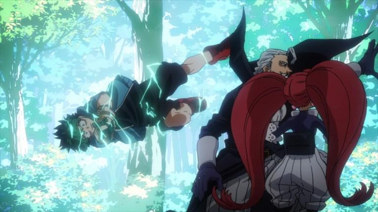 My Hero Academia 4 Episode 85 Midoriya chases Gentle and La Brava