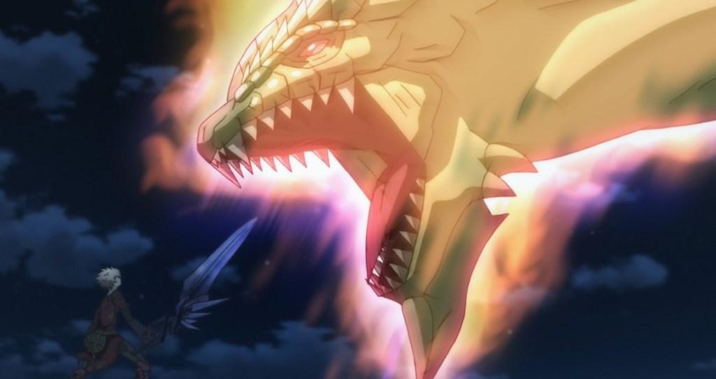 Infinite Dendrogram Episode 12 Ray facing off against Giant Monster