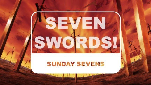 The Otaku Author Sunday Sevens Seven Swords
