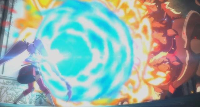 Shachibato President it's time for battle Episode 11 Marika fighting Three-Headed Boss Maju